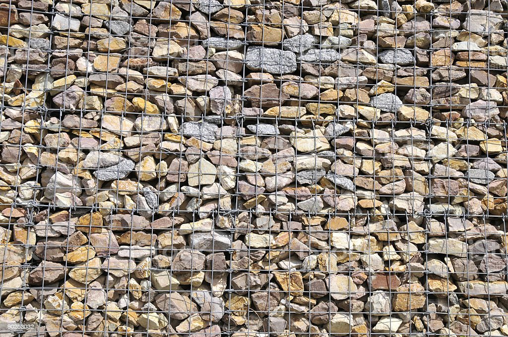 big muro de gaviones foto de stock libre de derechos - Muro De Gaviones