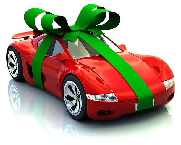 big geschenk - autoschleifen stock-fotos und bilder
