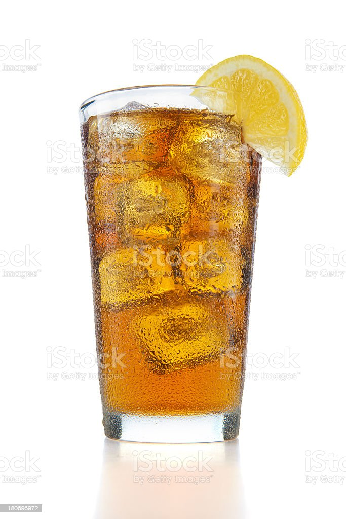 Big Glass of Iced Tea stock photo