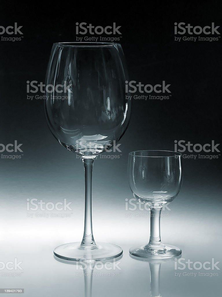 Big Glass, Small Glass royalty-free stock photo
