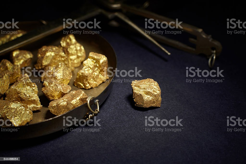 big gold nugget stock photo