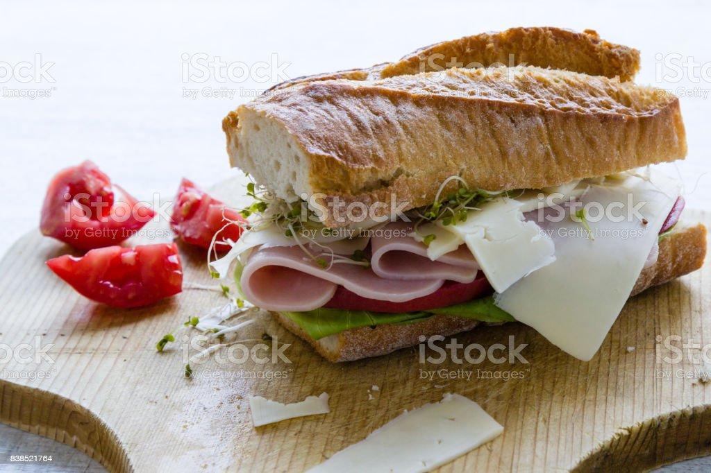 big ham sandwich stock photo