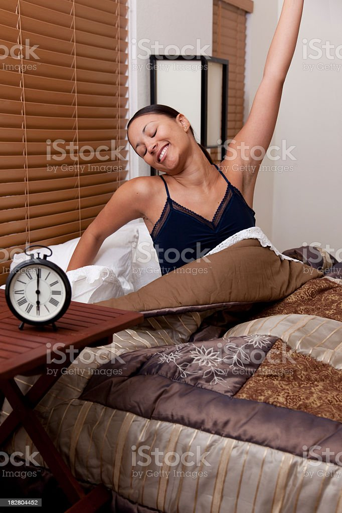 Big Happy Morning Stretch royalty-free stock photo