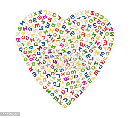 513565925istockphoto Big heart of letters 477147907