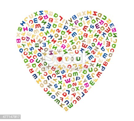 513565925istockphoto Big heart of letters 477147917