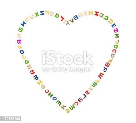 513565925istockphoto Big heart of letters 477383409
