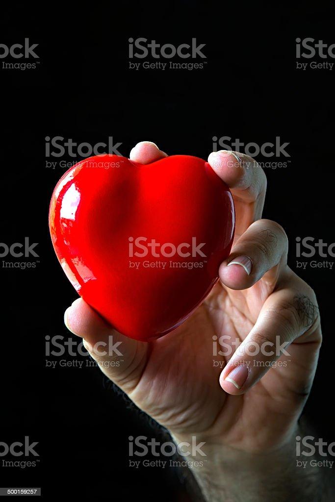 big heart stock photo