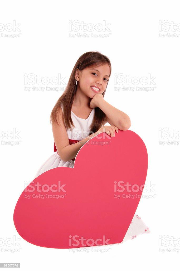 Grand cœur photo libre de droits