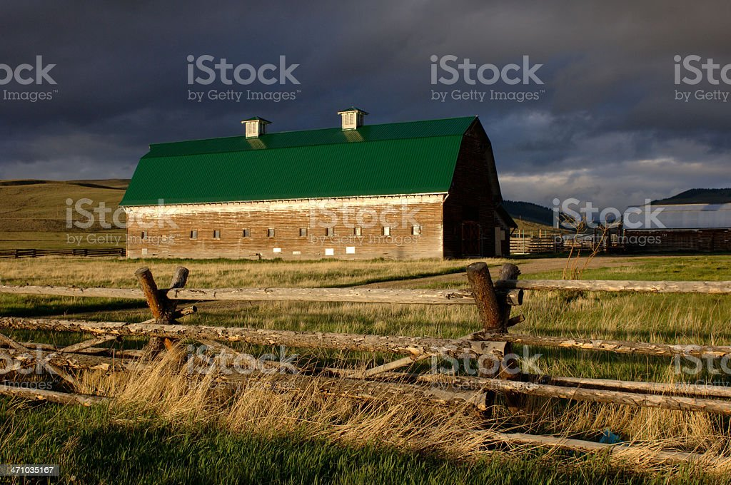 Big Hole Valley Barn 4 stock photo
