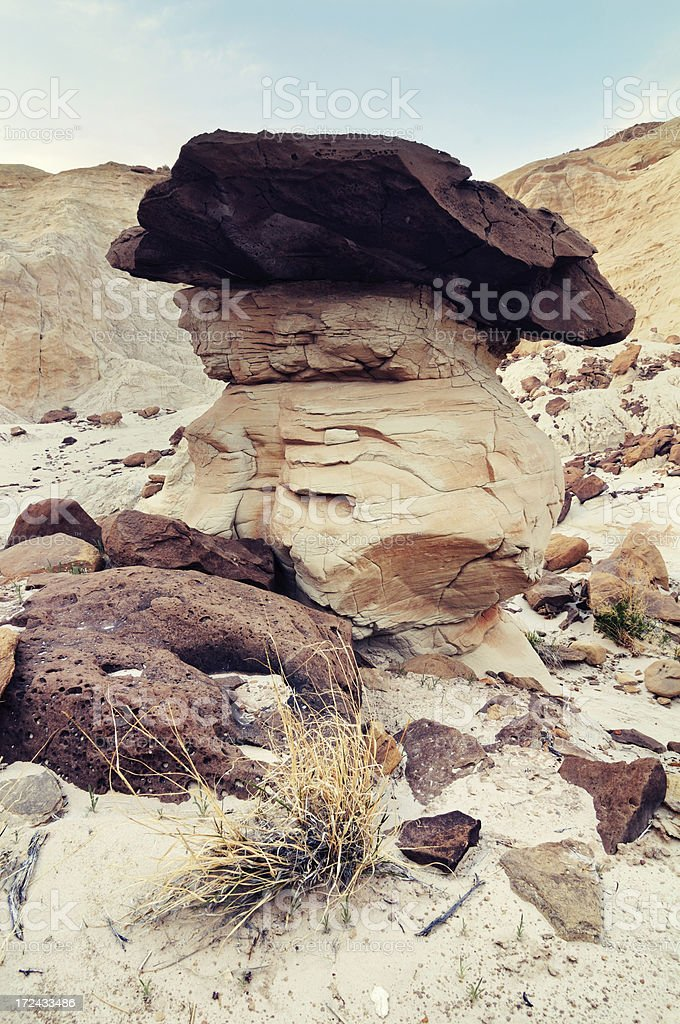 Big hoodoo at Paria Rimrocks, Utah, USA royalty-free stock photo