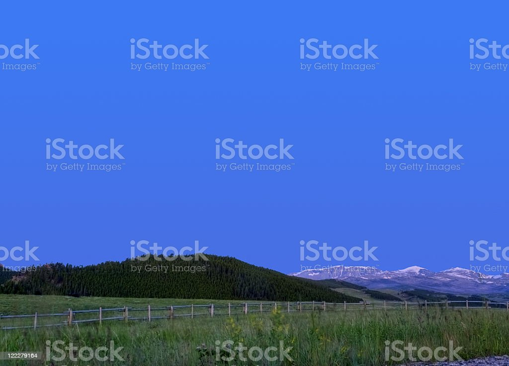 Big Horn Mountains stock photo