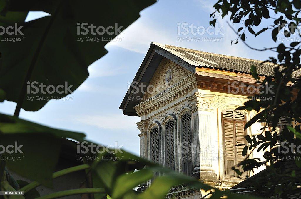 big house, European style in Phuket Thailand royalty-free stock photo
