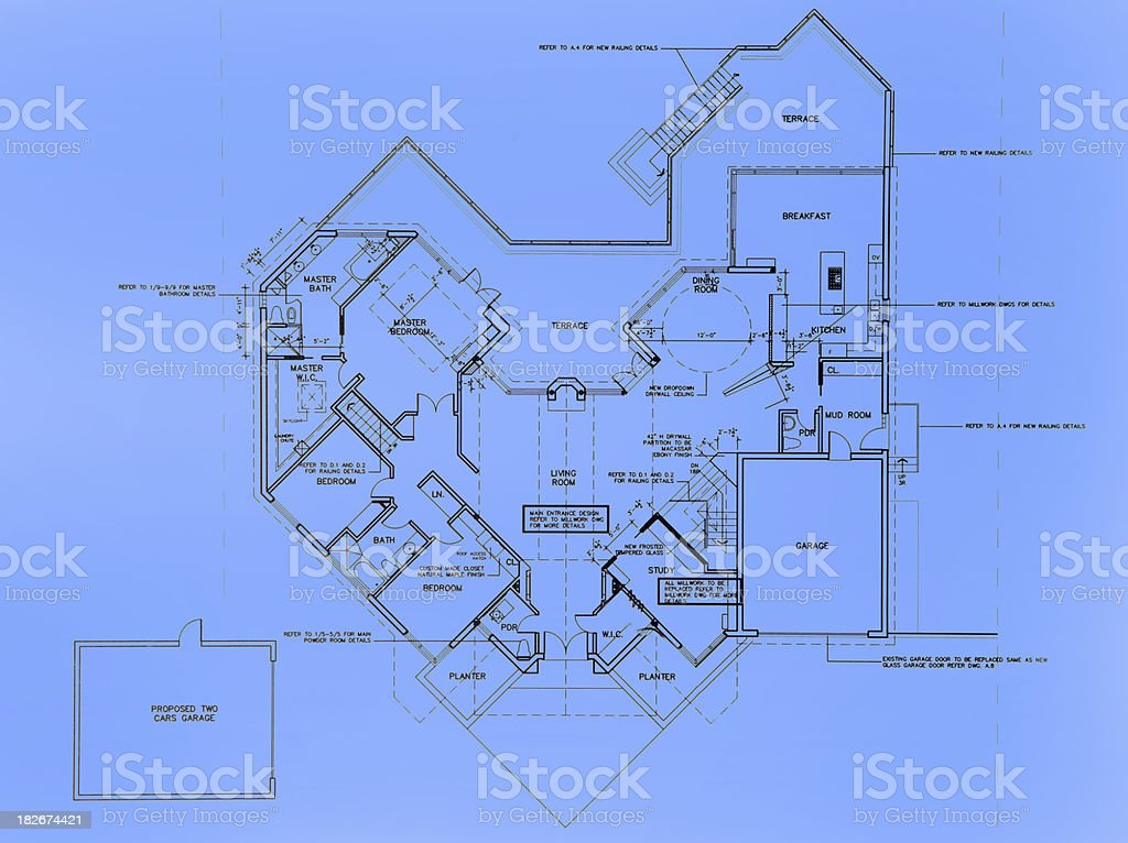 Big House layout royalty-free stock photo