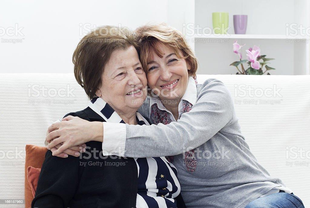 Big hug stock photo