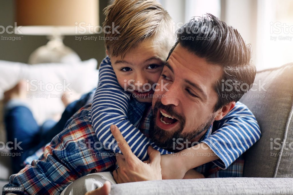 Big hugs for the bestest Dad! - Royalty-free Adult Stock Photo