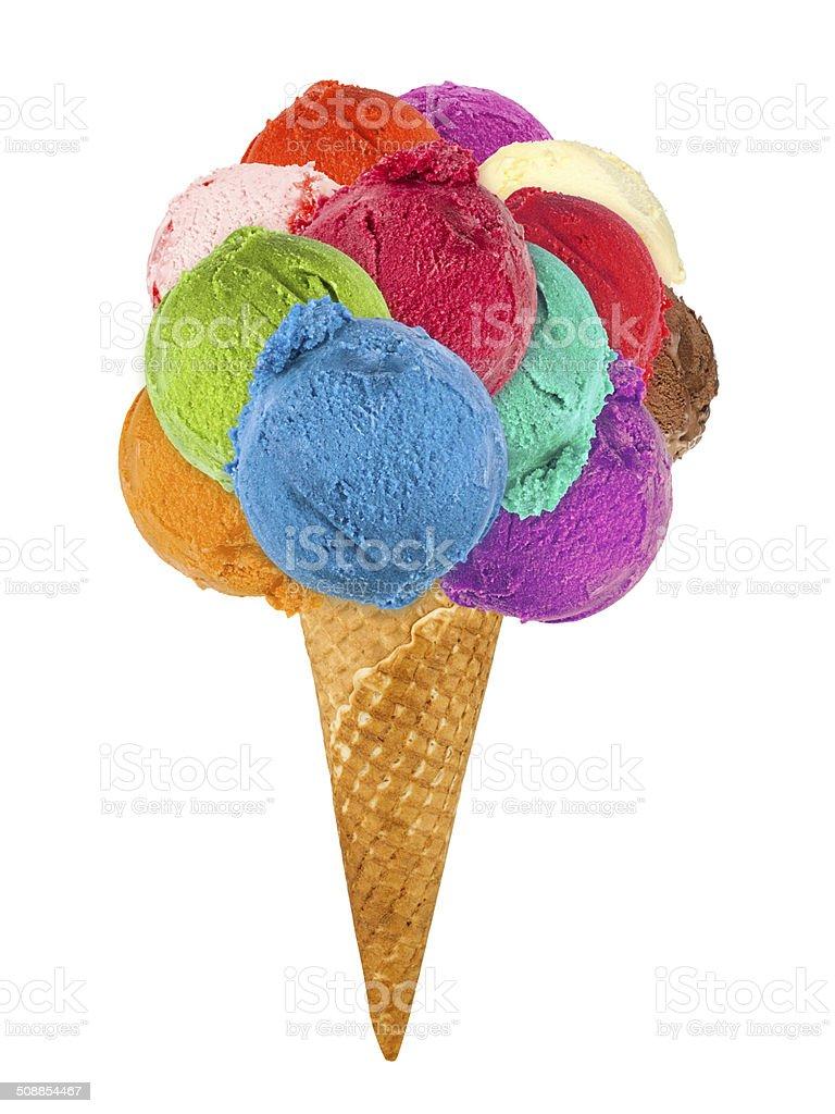 big ice cream cone stock photo
