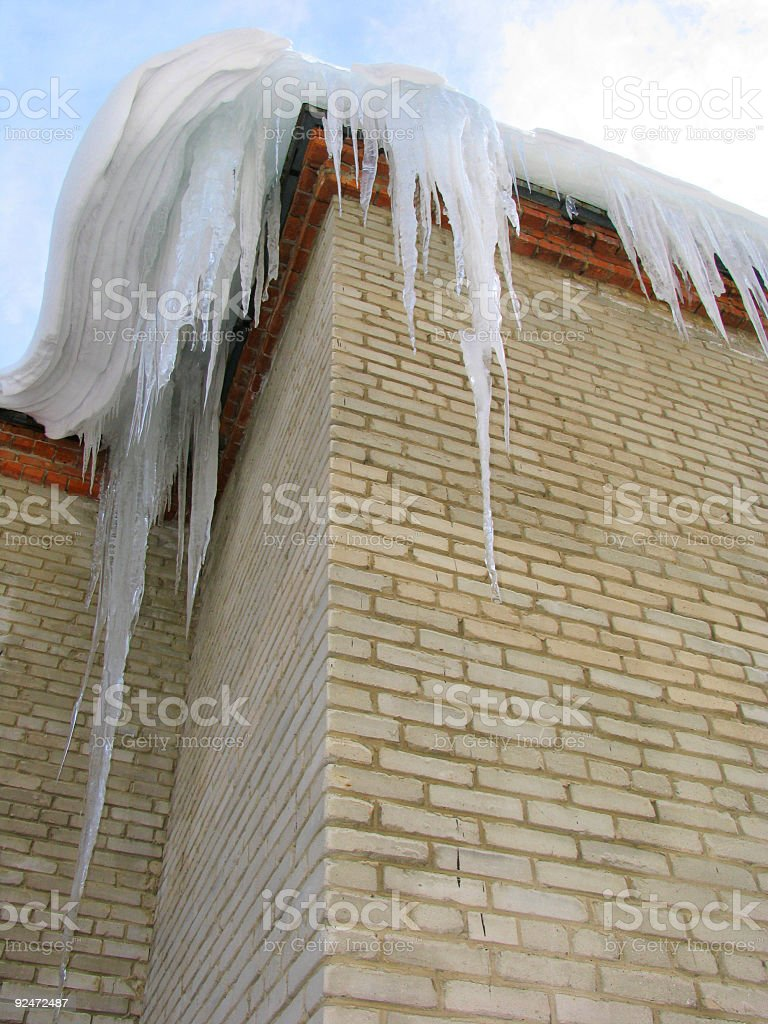 Big icicles royalty-free stock photo