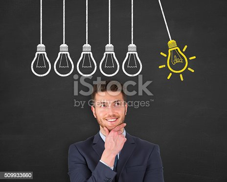 645716366 istock photo Big Idea Concept Drawing on Blackboard 509933660