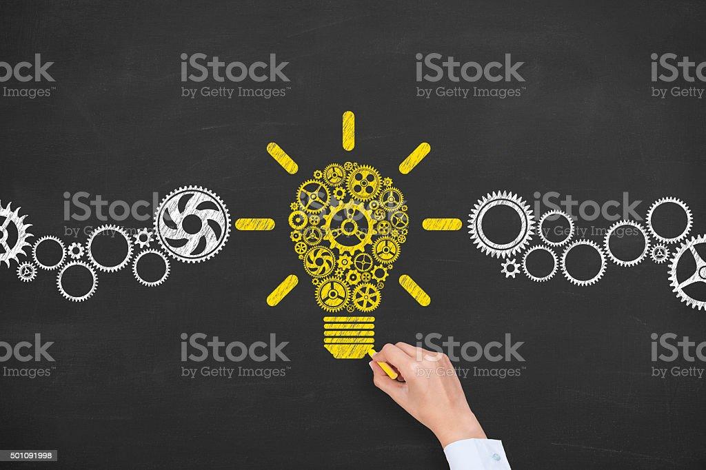 Idée Concept sur le tableau photo libre de droits