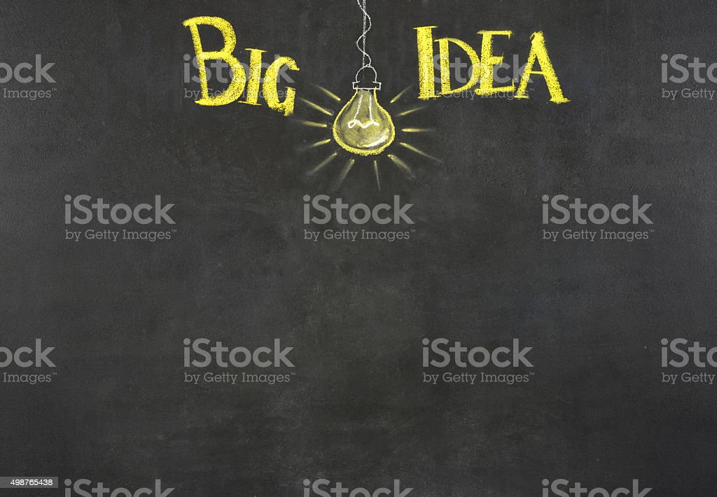 Big Idea light bulb stock photo