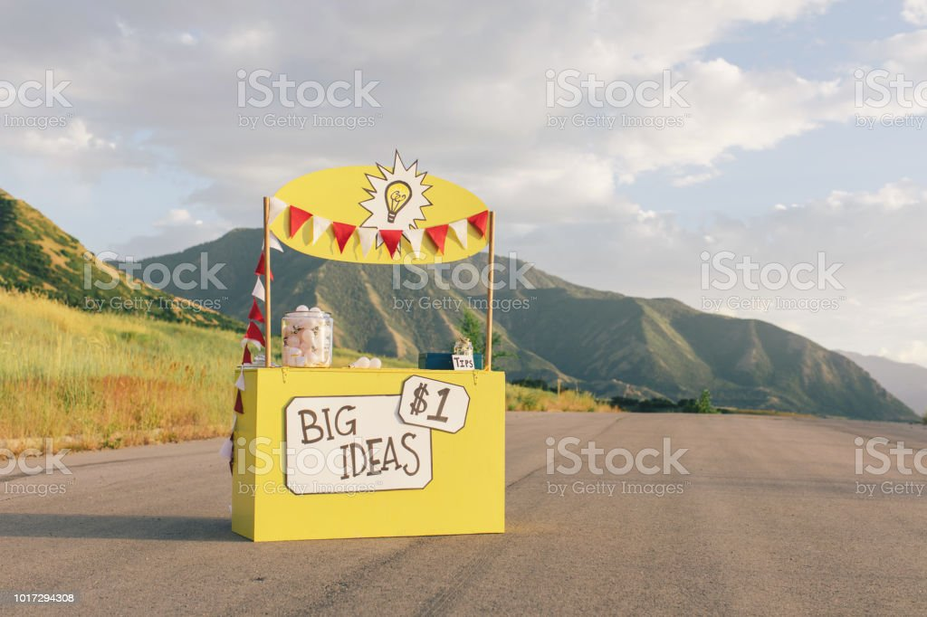 Big Ideas Lemonade Stand Stock Photo - Download Image Now