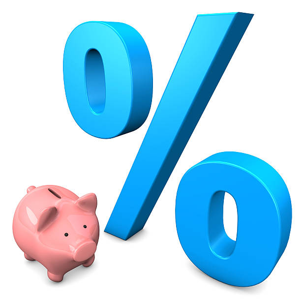 big interest piggy bank - depositor stock pictures, royalty-free photos & images