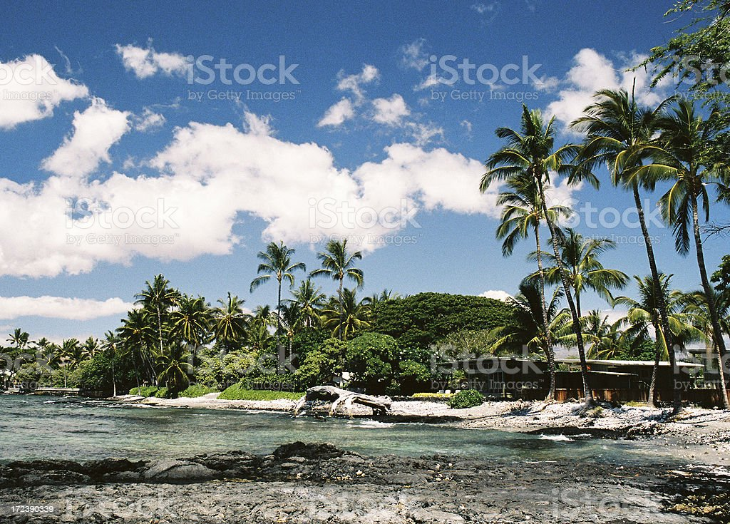 Big Island Hawaii beach house royalty-free stock photo