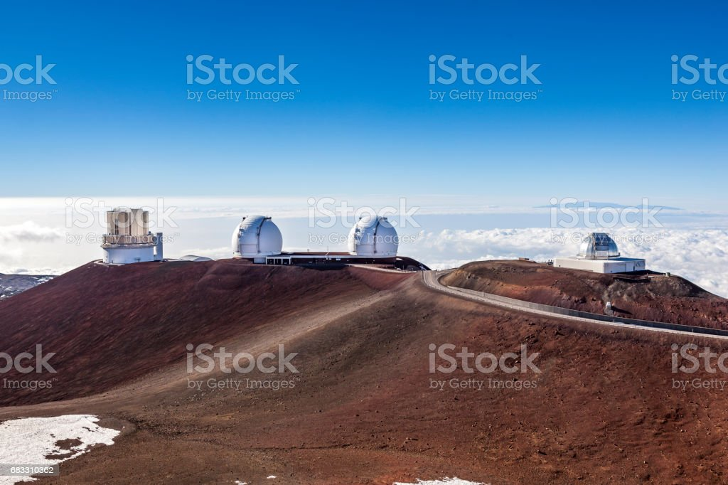 big island mauna kea gemini observatory hawaii islands stock photo