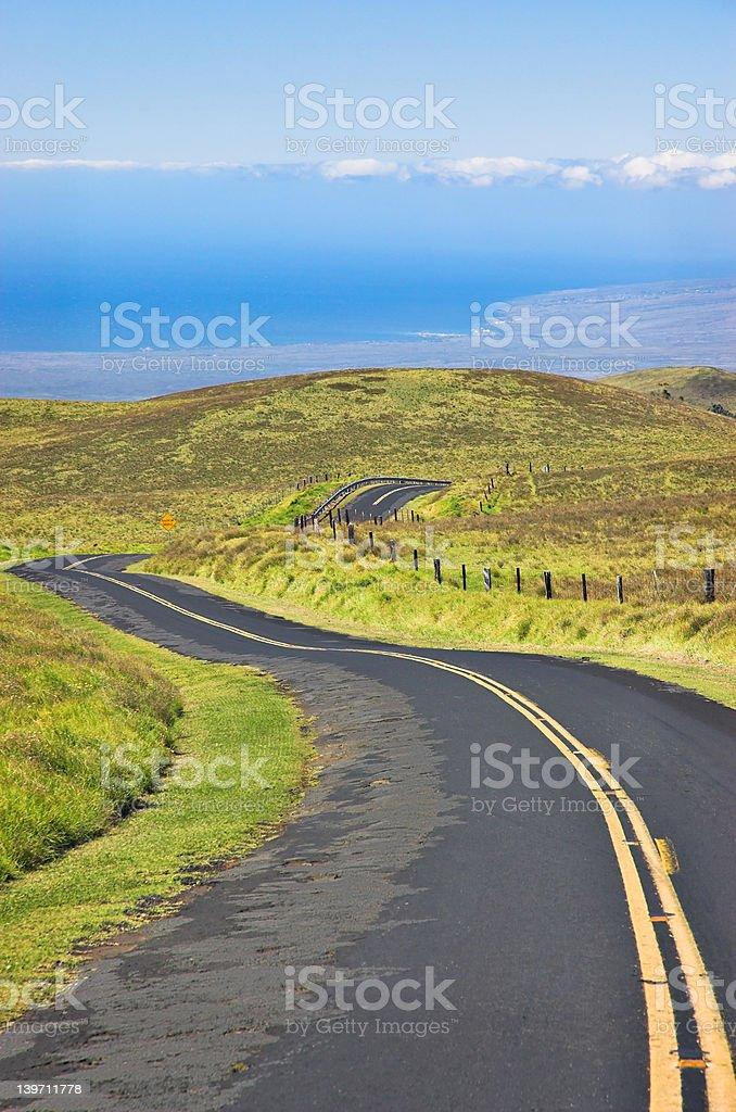 Big Island Saddleback Road royalty-free stock photo