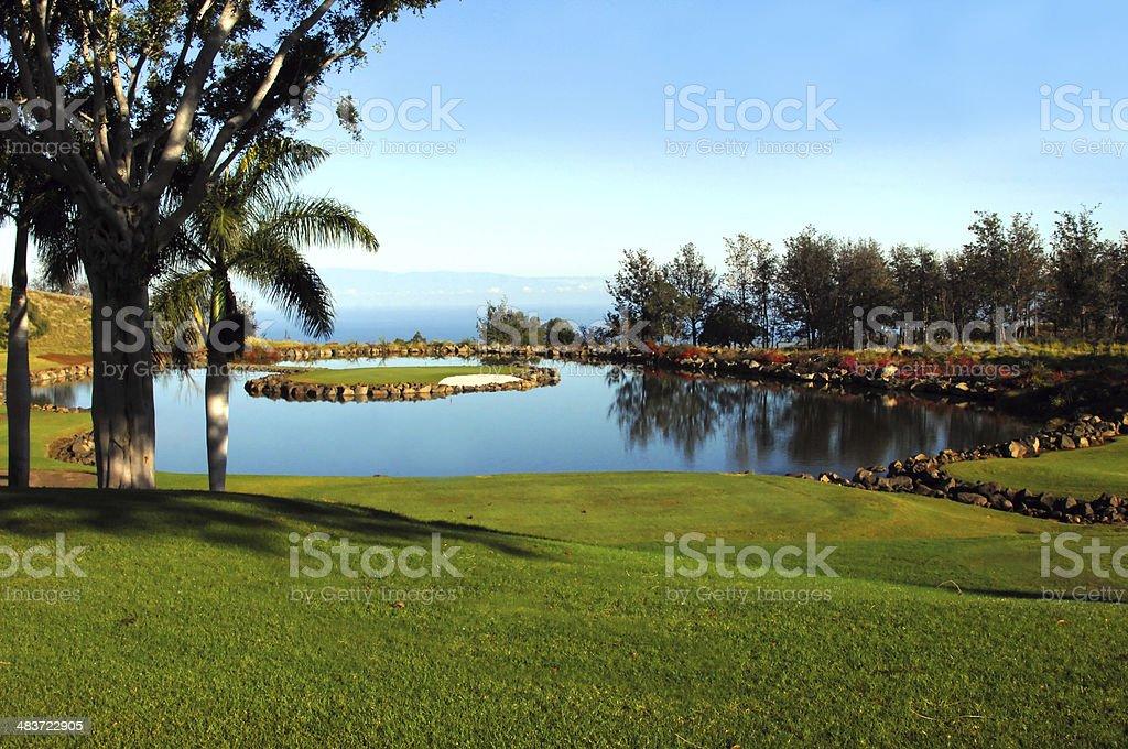 Big Island Scenic Golf stock photo