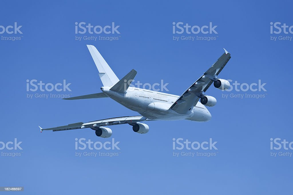 Big Jet Airplane on Clear Sky royalty-free stock photo