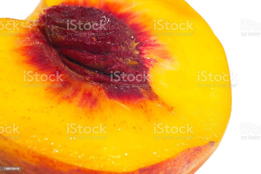 big juicy peach royalty-free stock photo