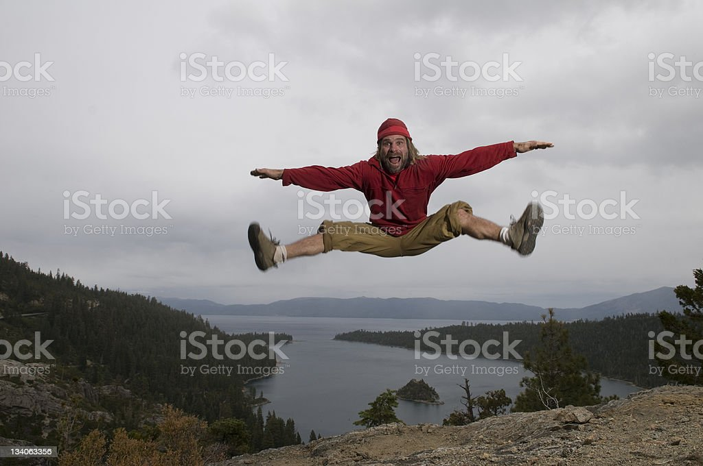 big jump royalty-free stock photo