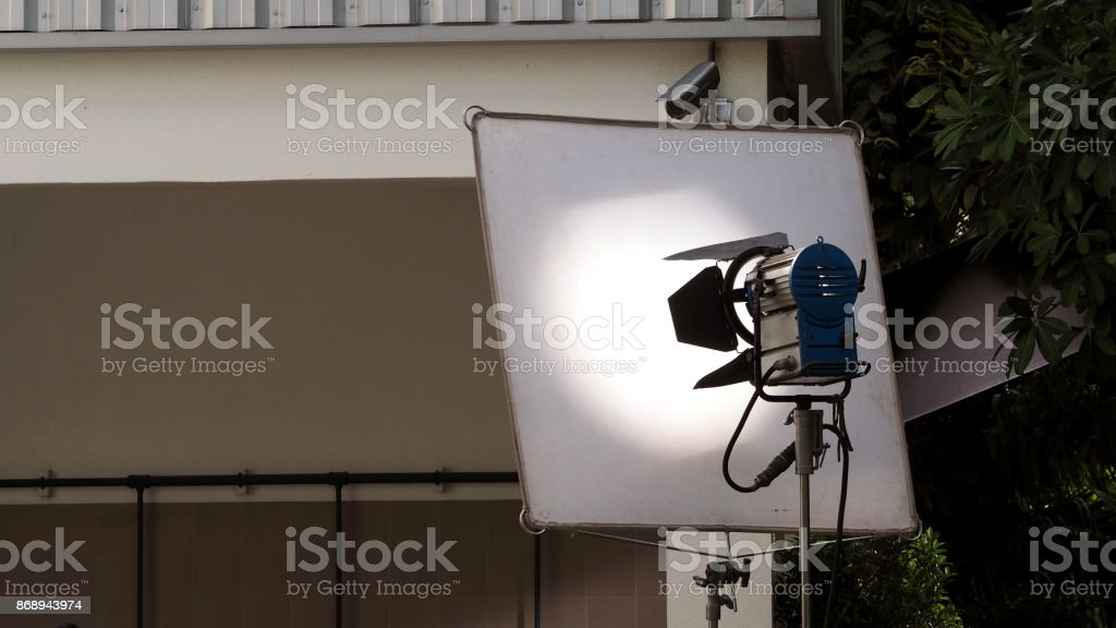 Big LED studio light equipment stock photo