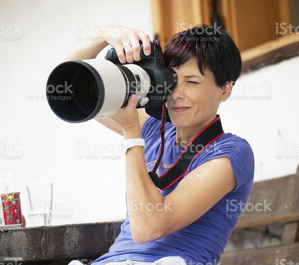 Big Lense royalty-free stock photo