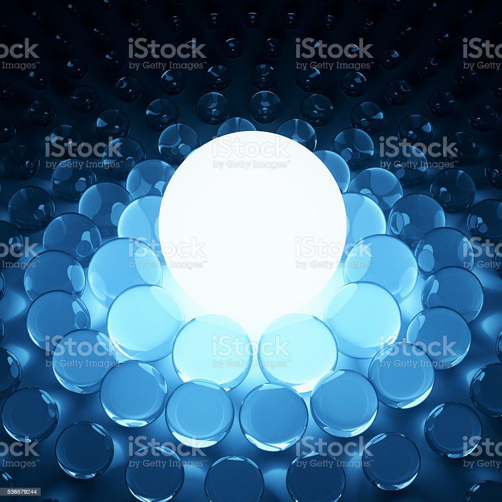 Big lighting sphere light stock photo