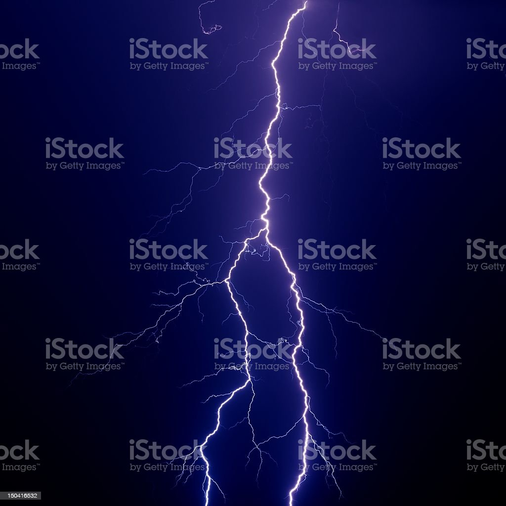Big lightning royalty-free stock photo