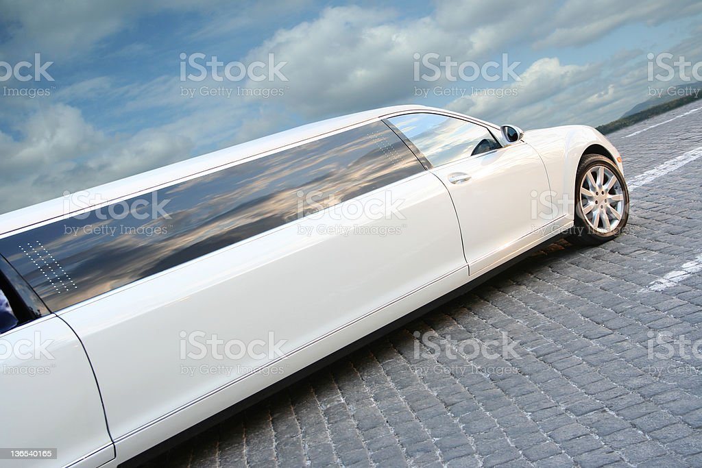 Big limousine stock photo