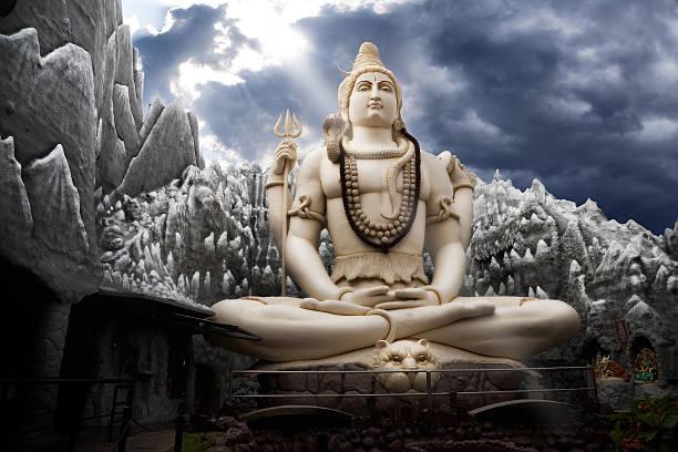 Big Lord Shiva statue in Bangalore stock photo