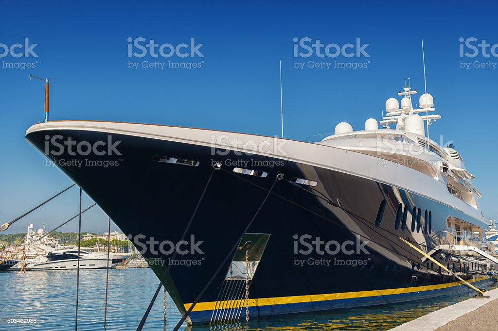 big luxury yacht stock photo