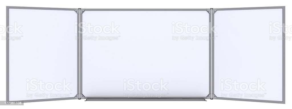 Big magnetic white board stock photo