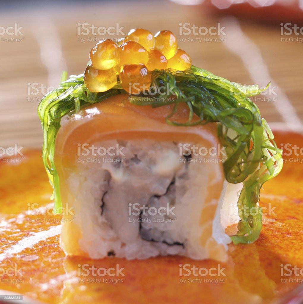 Big maki sushi royalty-free stock photo