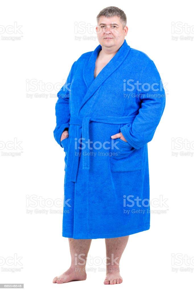 Big Man In Terry Cloth Bathrobe Stock Photo Download Image Now Istock