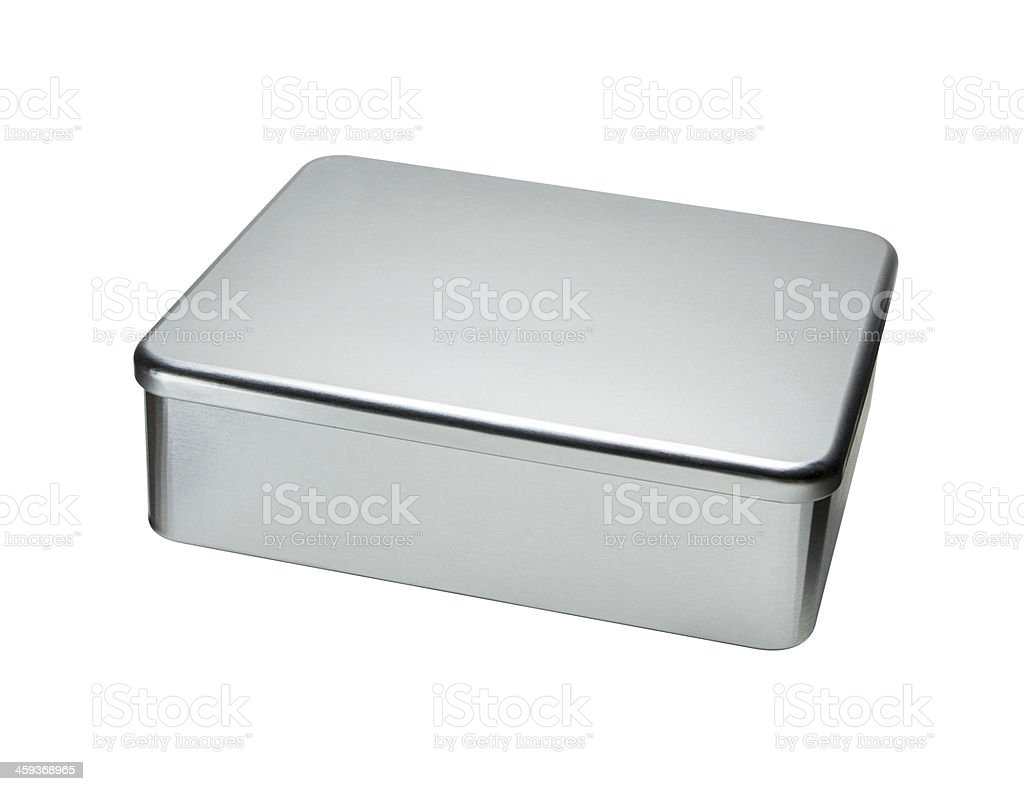 Big Metal box isolated on a white background stock photo