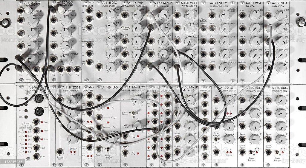big modular synth stock photo