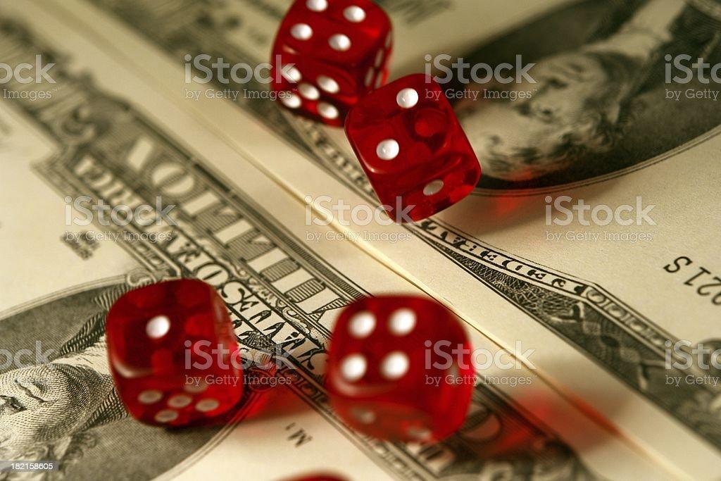 Big Money Dice Roll royalty-free stock photo
