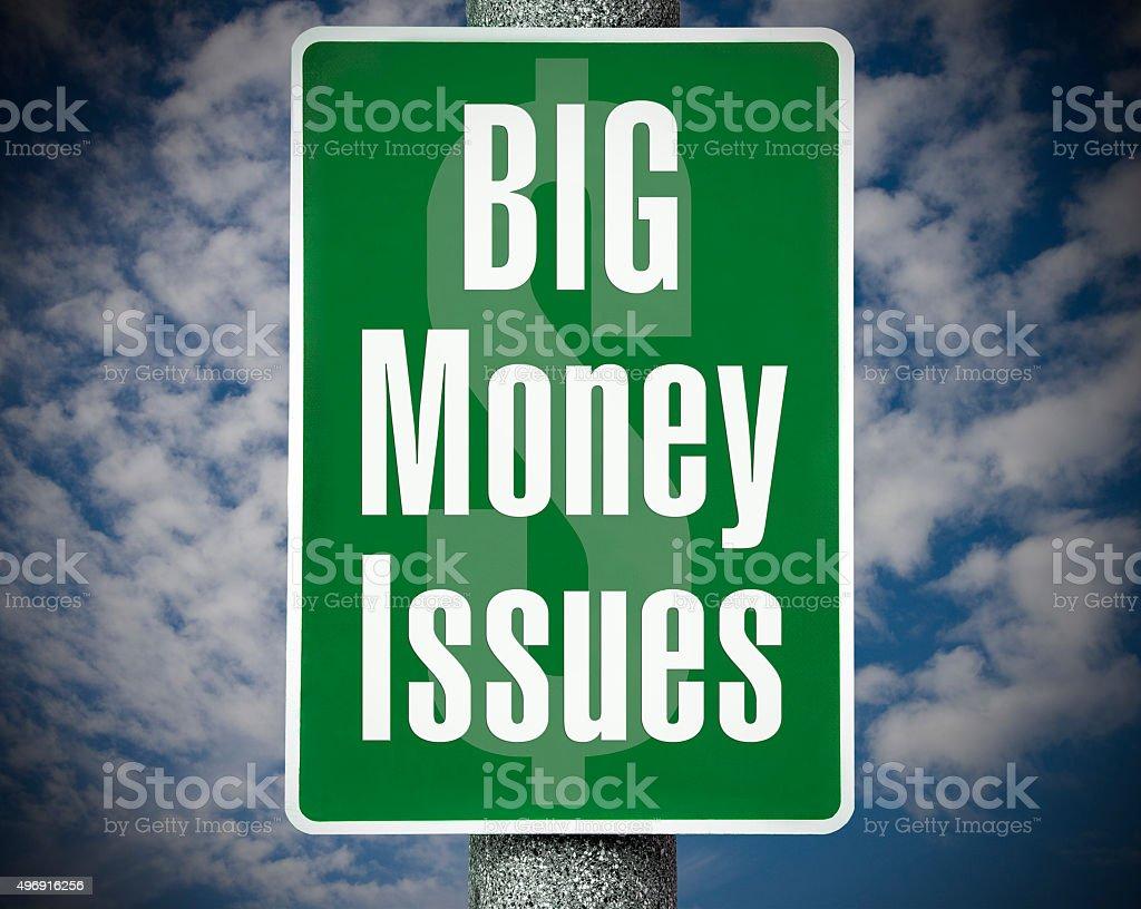 Big Money Issues stock photo