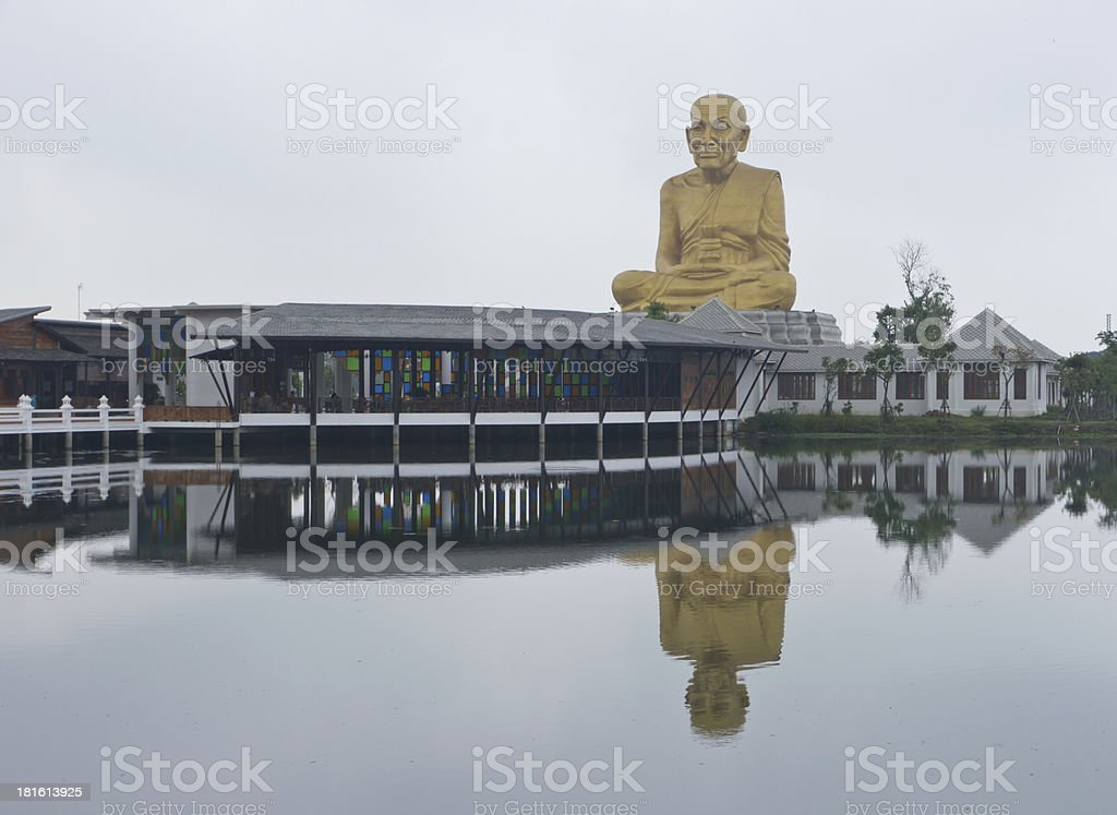 Big monk statue royalty-free stock photo