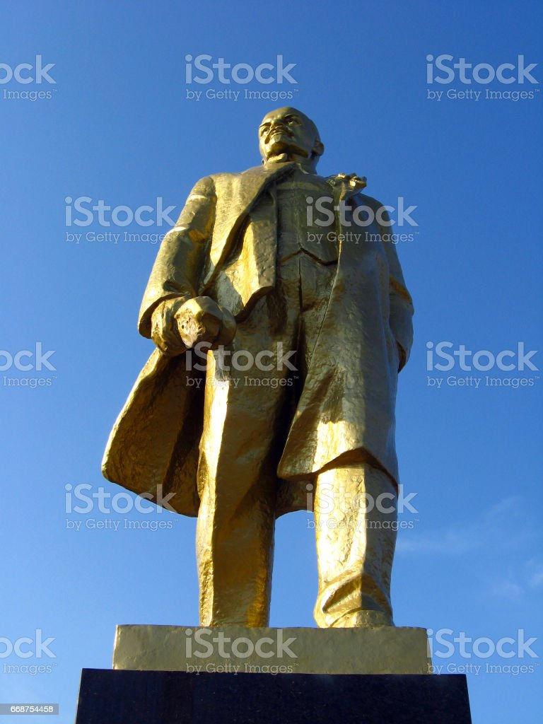 big monument to Lenin stock photo