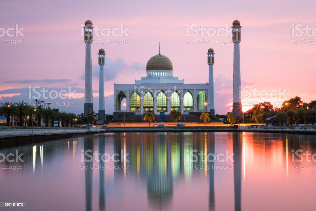 ฺBig Mosque in south of Thailand stock photo